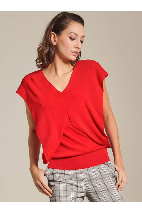 Knitted Cotton Blend Top