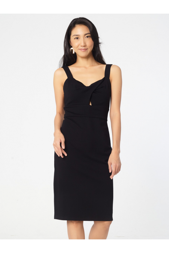 Sleeveless Dress with Cupping Details