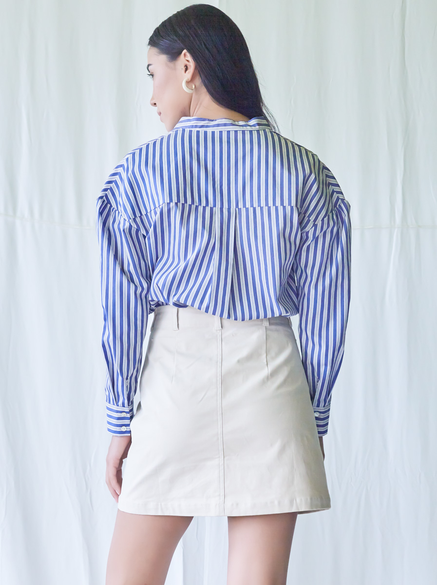 Button Detailed Long Sleeves Top