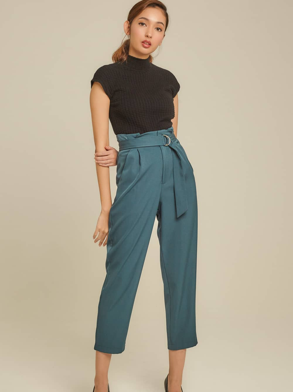Belted Twill Pant