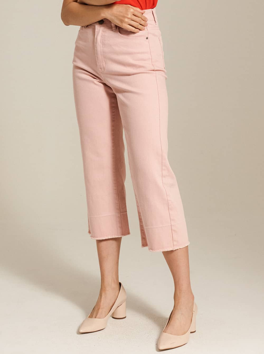 High-Rise Cropped Flare Jeans