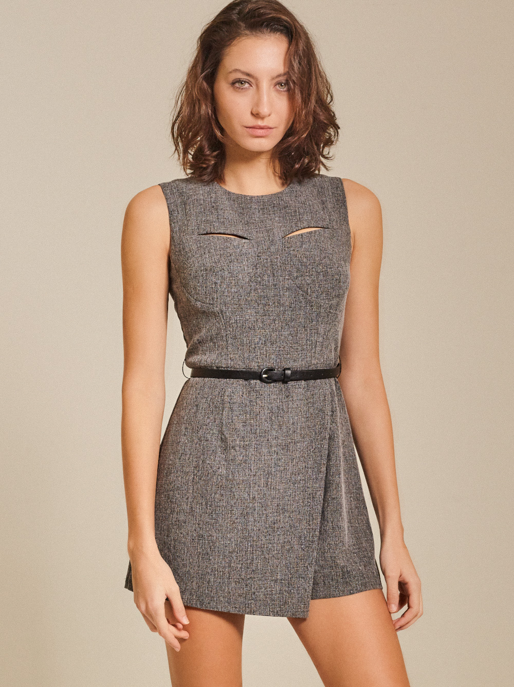 Cut-Out Bowhill Unpatterned Playsuit