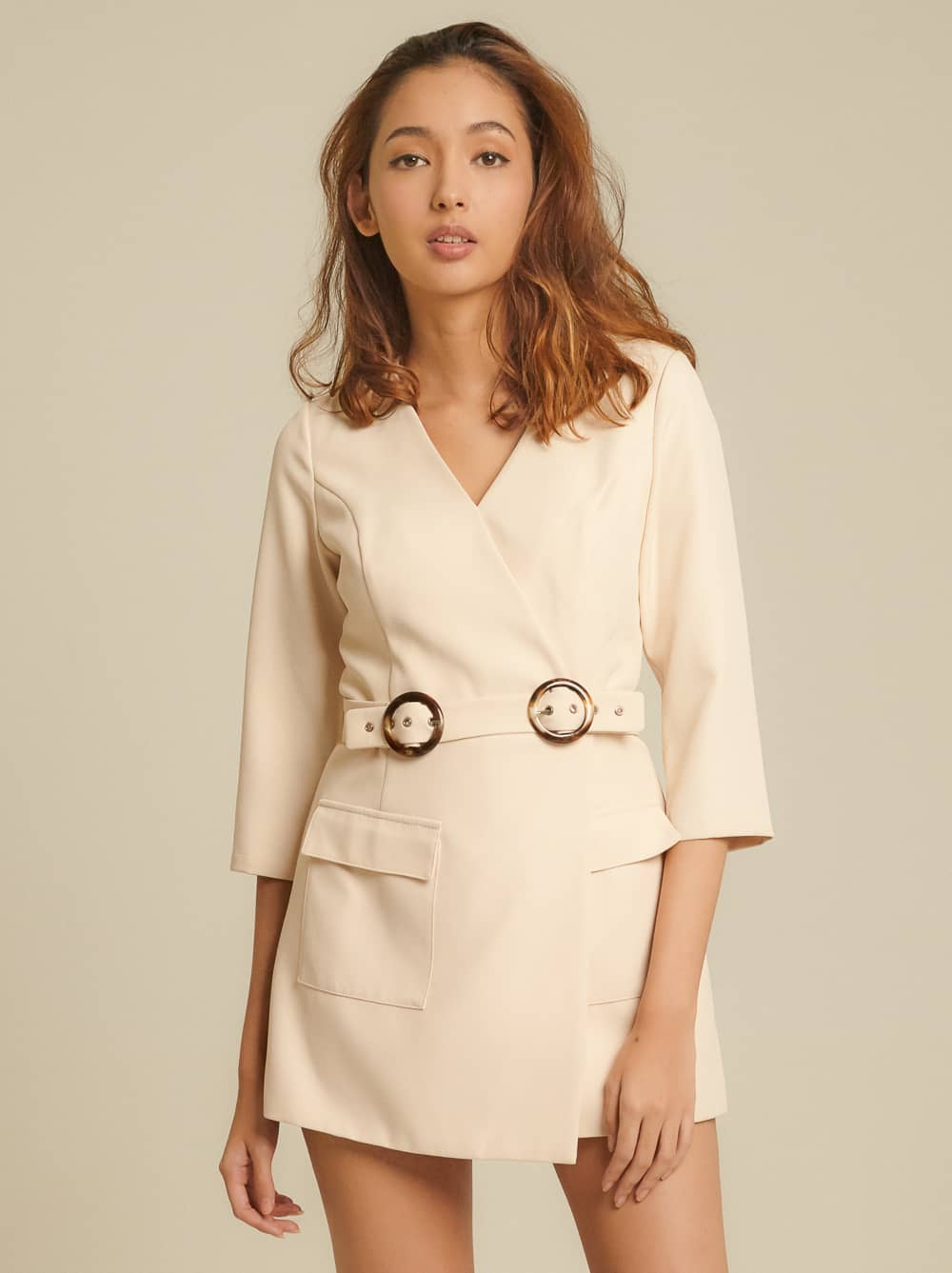 Belted Cady Playsuit