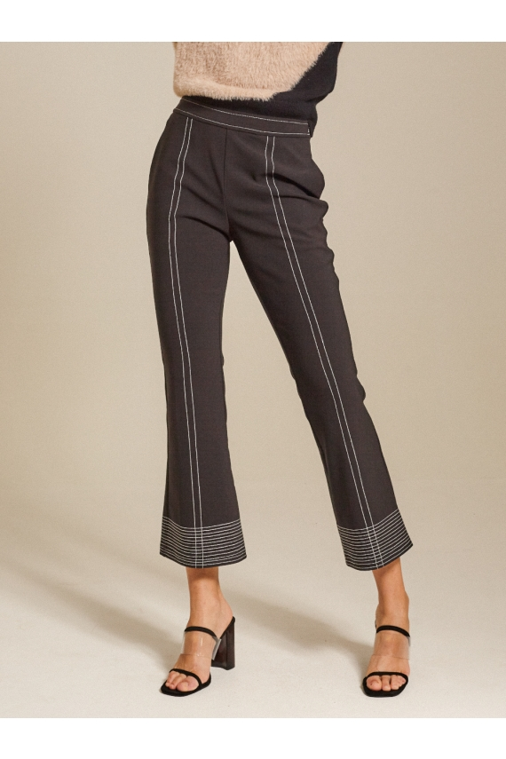 Contrasting Cady Flared Pants