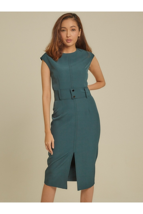 Belted Cady Dress