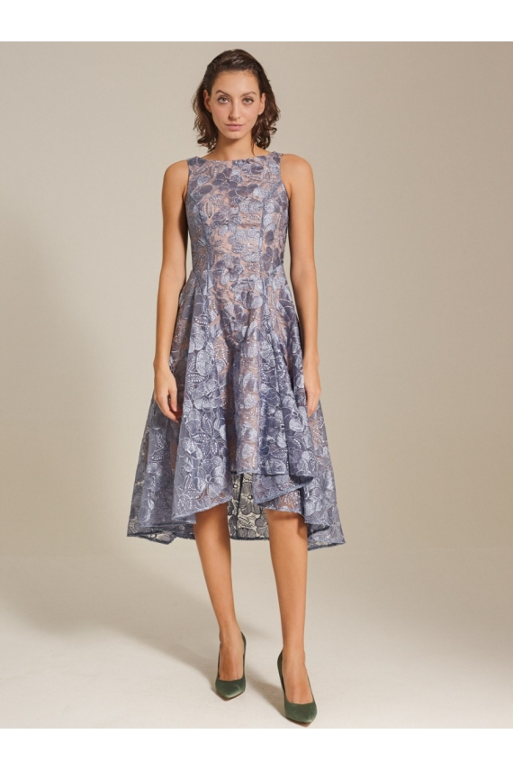 Embroidered Silk Organza Dress