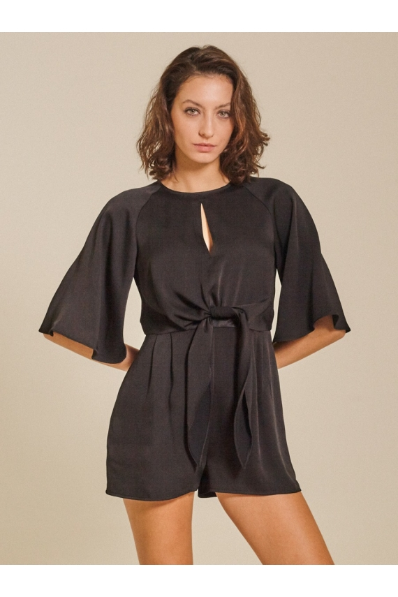 Front-tie Cady Playsuit
