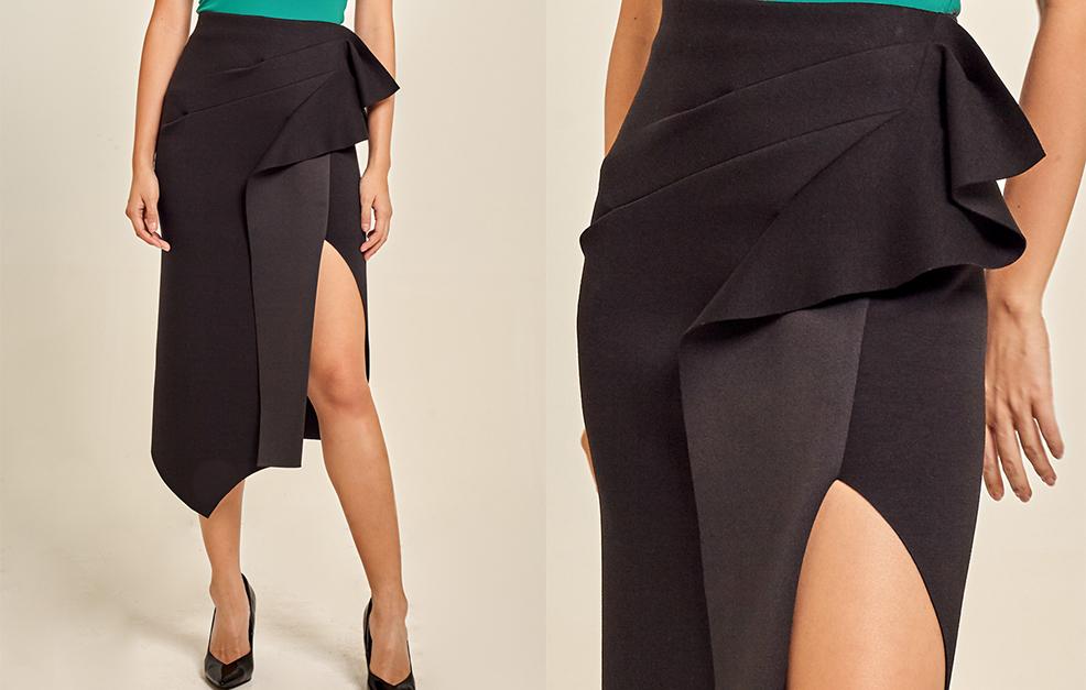 Structured Neoprene Skirt