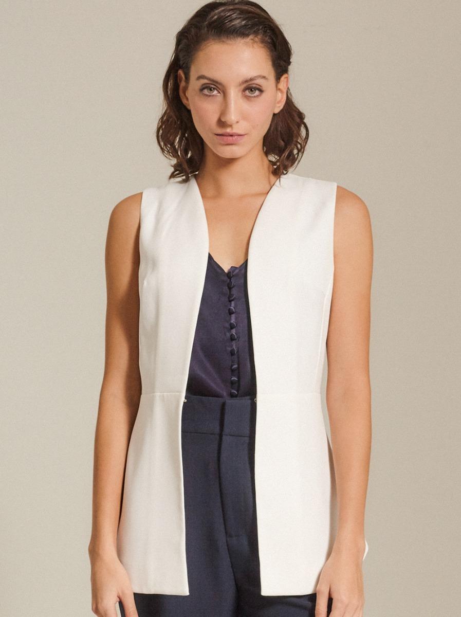 Back-Tie Crepe Vest