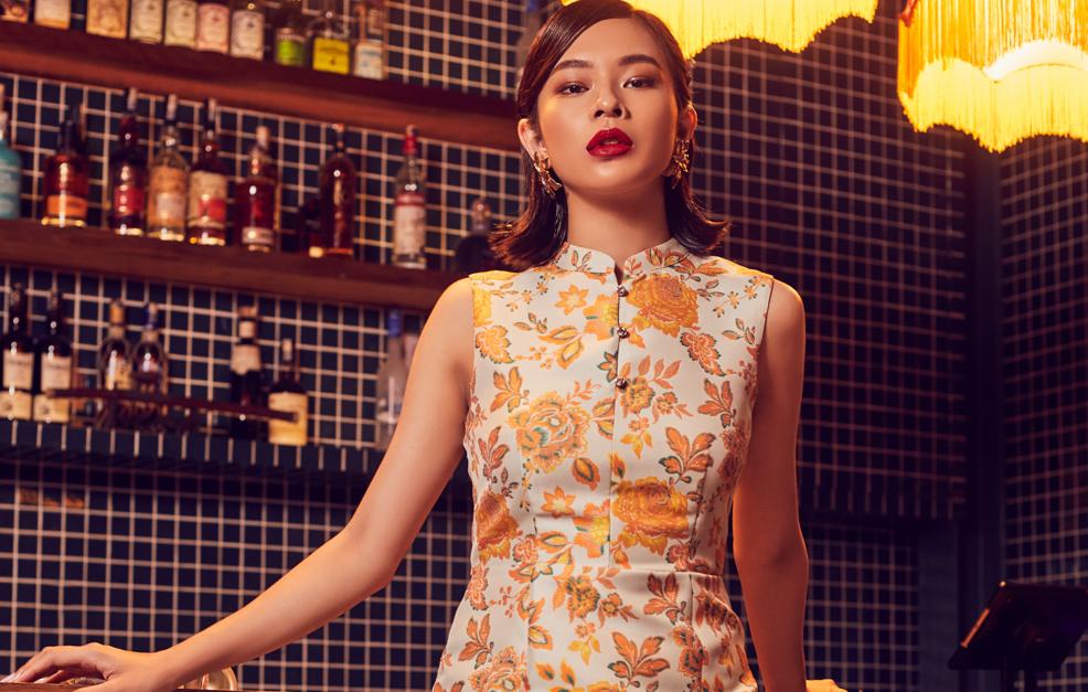 Oriental Jacquard Dress