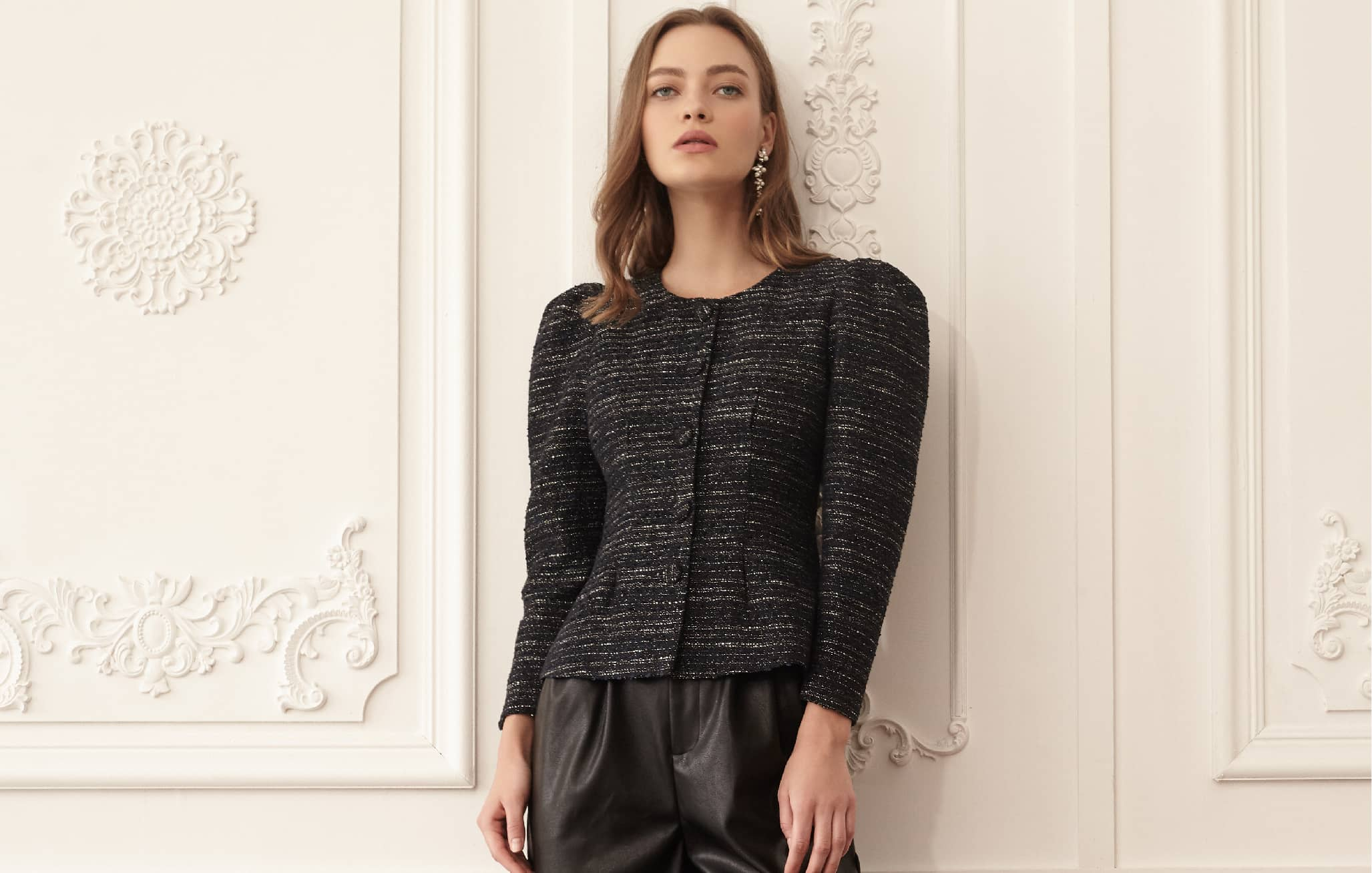 Structured Tweed Jacket